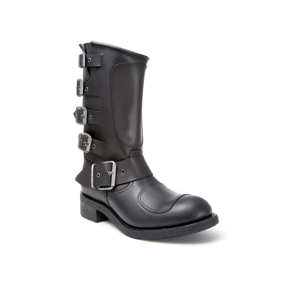 Compra en Noel Western Boots estas botas Sendra Biker para hombre de Cuero negro con hebillas del modelo 3790 con envíos gratis a la península 818 -