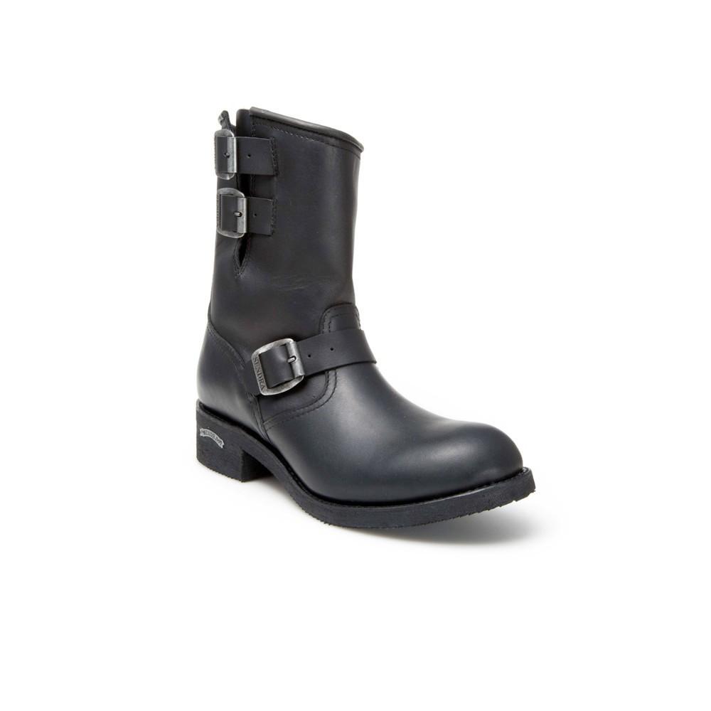 Compra en Noel Western Boots estas Botas Sendra Biker para hombre de Cuero negro con hebillas del modelo 4455 con envíos gratis a la península 819 -