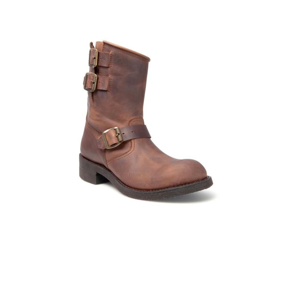 Compra en Noel Western Boots estas Botas Sendra Biker para hombre de Cuero marrón con hebillas del modelo 4455 con envíos gratis a la península 820 -