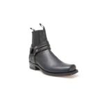Compra en Noel Western Boots estos Botines Sendra Biker para hombre de cuero negro con arnés modelo 2746 con envíos gratis a la península 8259 - __[GALLERYITEM]__