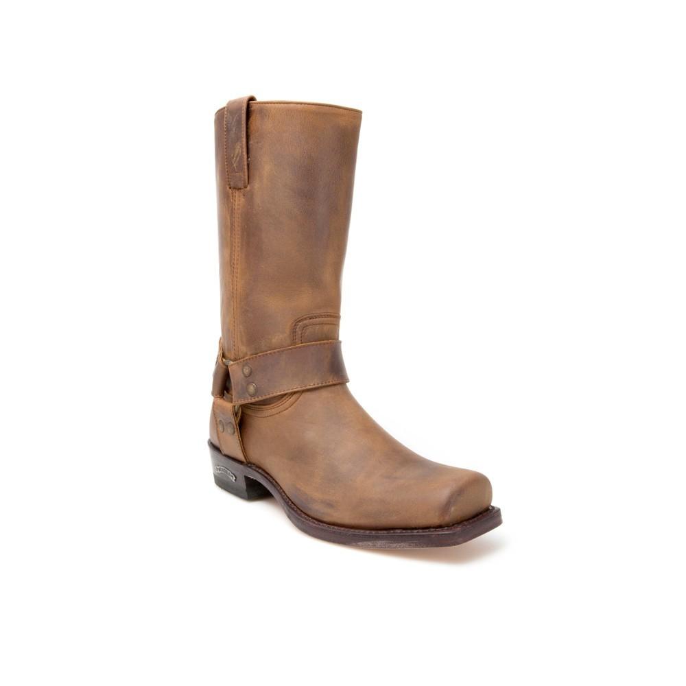 Compra en Noel Western Boots estas Botas Sendra Biker para hombre de cuero marrón con arnés modelo 1918 con envíos gratis a la península 9851 -