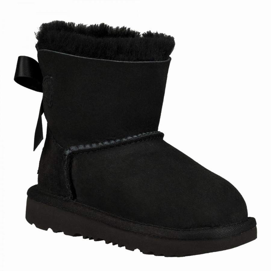 botas ugg mini bailey bow II black - Mysweetstep