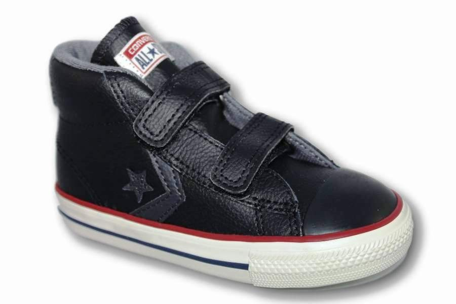 ZAPATILLAS CONVERSE INFANT STAR PLAYER EV 2V MID BLACK/THUNDER/STORM WIND