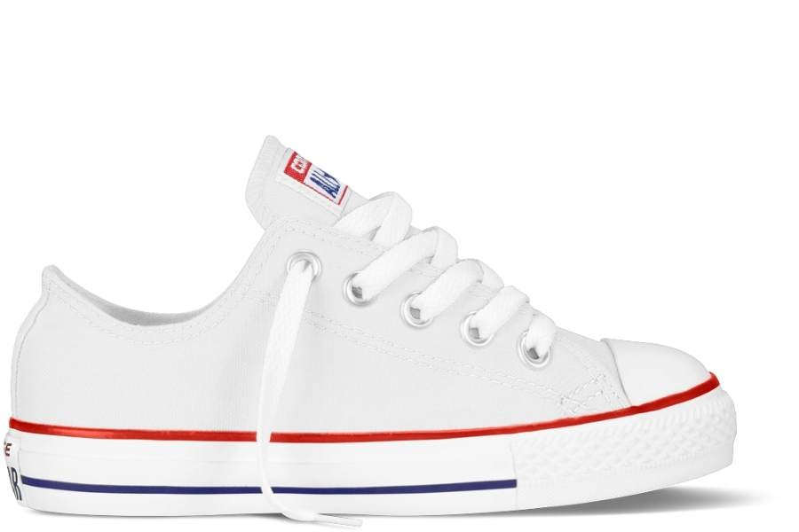 ZAPATILLAS CONVERSE YOUTH CHUCK TAYLOR ALL STAR OX CLASSIC COLORS OPTICAL WHITE BLANCA SP19