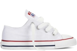 SABATILLES CONVERSE INFANT CHUCK TAYLOR ALL STAR OX CLASSIC COLORS OPTICAL WHITE-BLANCA SP19