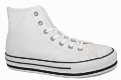Converse plataforma bota blanco en piel 666392c | Mysweetstep