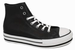 Converse plataforma bota negro en piel 666391c | Mysweetstep