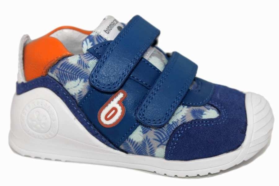 Zapatillas biomecanics azul electrico y hojas 192148-C | Mysweetstep