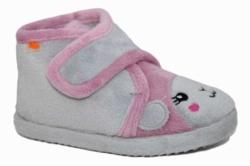 Zapatillas de casa Vulladi gris perla y rosa 9354-140   Mysweetstep
