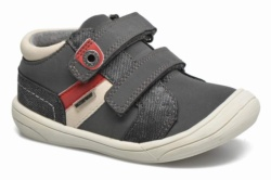 ZAPATILLAS KICKERS ZYVA GRIS-ROJO 440441 WATERPROOF - Ítem