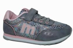Zapatillas mustang plata y rosa nude 69118 | Mysweetstep