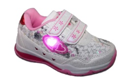ZAPATILLAS BEPPI BLANCO Y ROSA CON LUCES