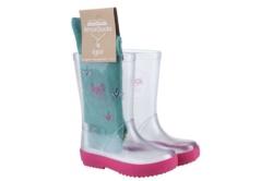botas de agua Igor splash transparente fucsia con calcetines w10187-171