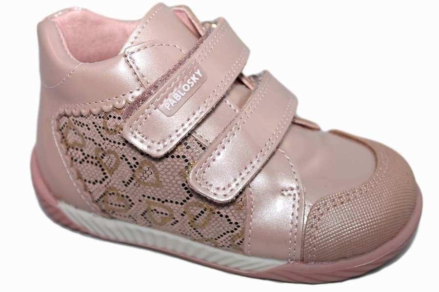 661085e1a botas pablosky niña charol rosa perla 036689 - Pablosky
