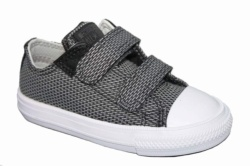 ZAPATILLAS CONVERSE INFANT CHUCK TAYLOR ALL STAR II 2V OX STORM WIND/MOUSE/WHITE - GRIS OSCURO SP17