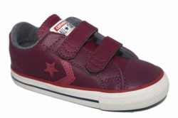 ZAPATILLAS CONVERSE INFANT STAR PLAYER EV 2V OX DARK SANGRIA/PORT/EGRET