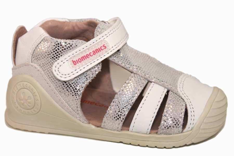 sandalias biomecanics blanco de piel 192123-A | Mysweetstep