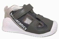 zapatillas biomecanics cuero y textil gris 192137-B| Mysweetstep