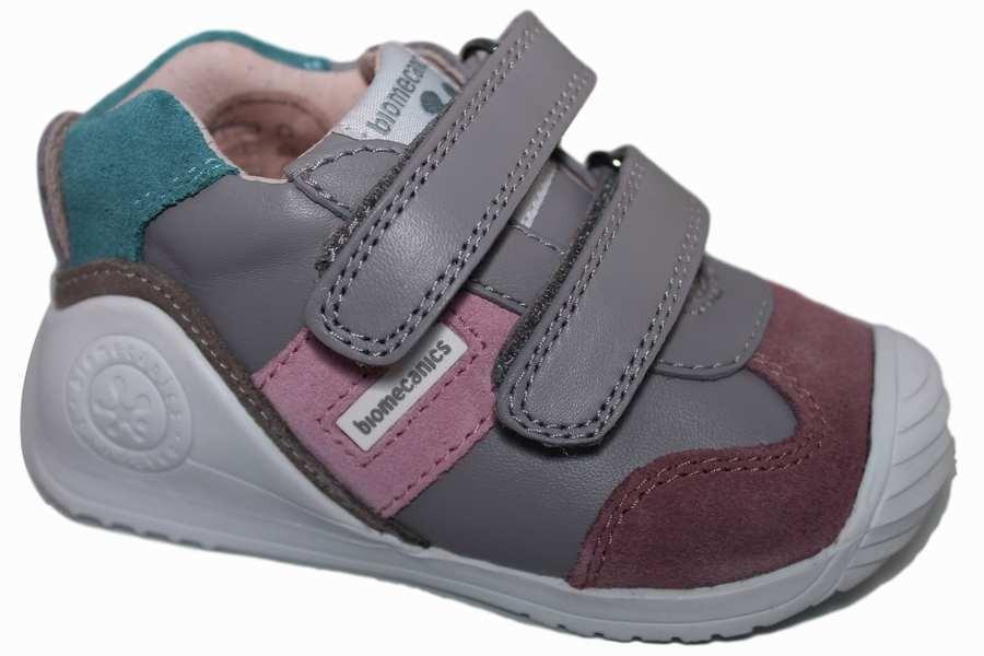 zapatillas biomecanics gris perla y rosa 171151h Mysweetstep