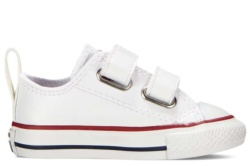 zapatillas converse de piel blanco con velcro 748653C | Mysweetstep