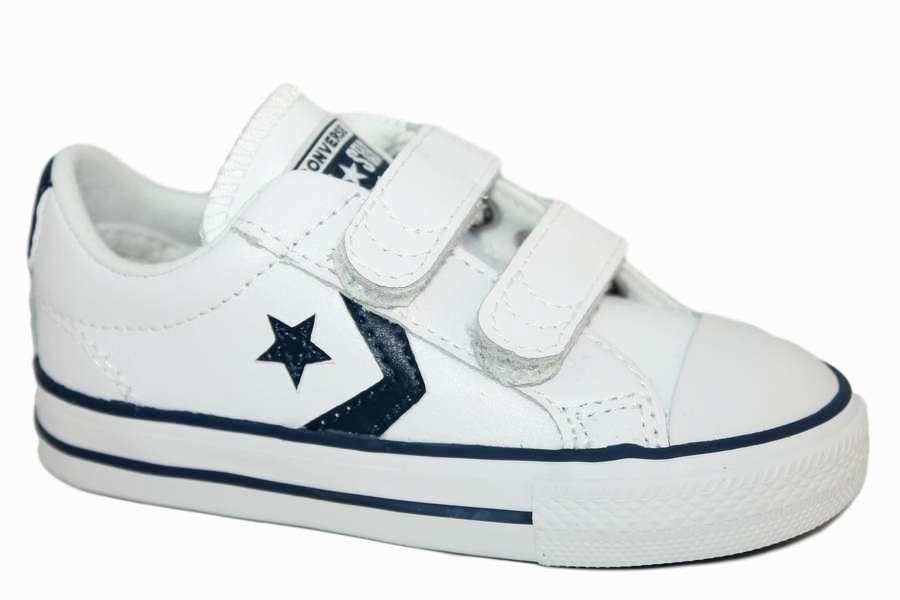 Indefinido innovación Absurdo  zapatillas converse de piel blanco y azul con velcro 746140 | Mysweetstep