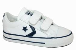 zapatillas converse de piel blanco y azul con velcro 746140 | Mysweetstep