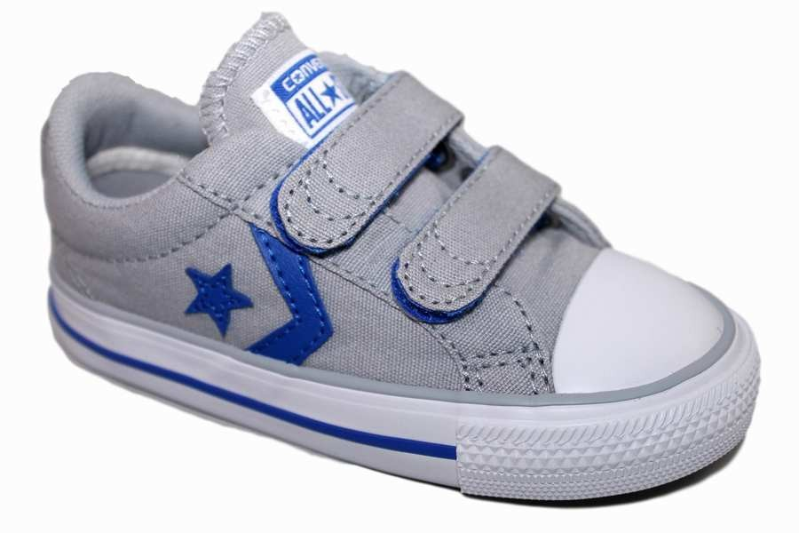 ZAPATILLAS CONVERSE INFANT STAR PLAYER 2V OX WOLF GREY/GRIS SP18