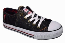 ZAPATILLAS LEVIS ORIGINAL RED TAB LOW LACE CHECKER BLACK DENIM