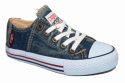 ZAPATILLAS LEVIS ORIGINAL RED TAB LOW LACE BLUE DENIM