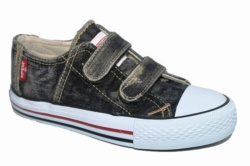 ZAPATILLAS LEVIS ORIGINAL RED TAB LOW VELCRO BLACK DENIM