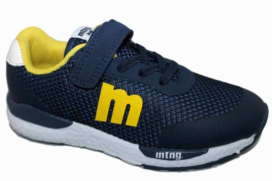 zapatillas mustang azul navy y amarillo 47598 - Mysweetstep