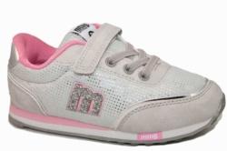 zapatillas mustang gris claro y rosa 69118 | Mysweetstep