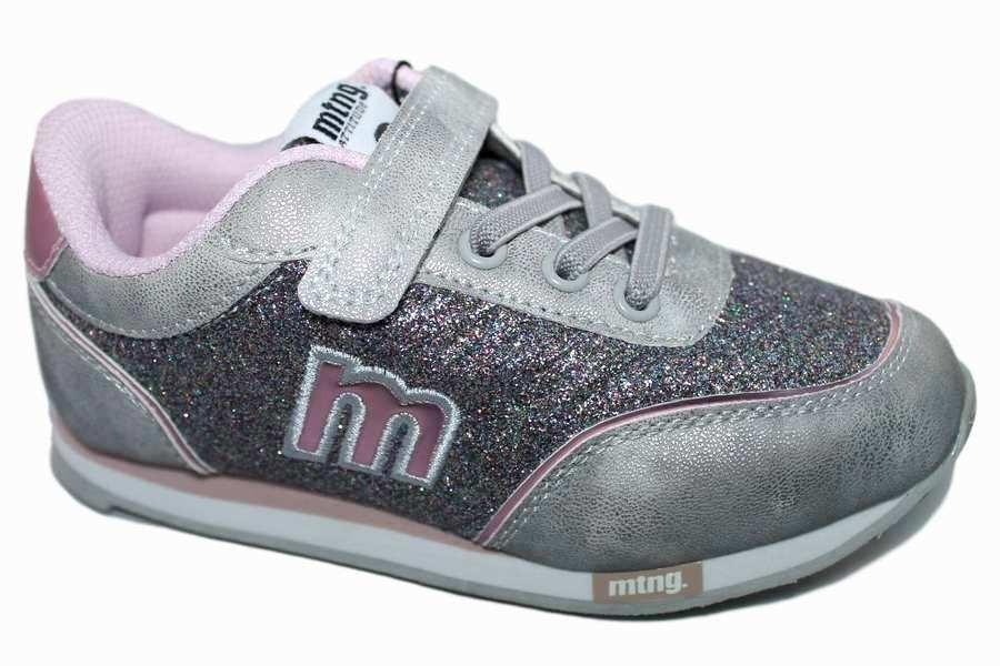 zapatillas mustang plata rosa glitter 69118 Mysweetstep