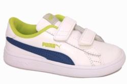 zapatillas puma Smash V2 blanco, azul y verde | Mysweetstep