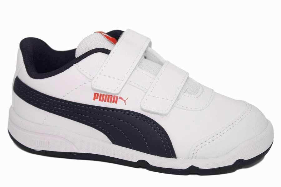 zapatillas puma stepfleex2 blanco y azul   Mysweetstep