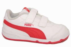 zapatillas puma stepfleex2 blanco y coral | Mysweetstep