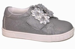 zapatos chicco carolina gris glitter | Mysweetstep