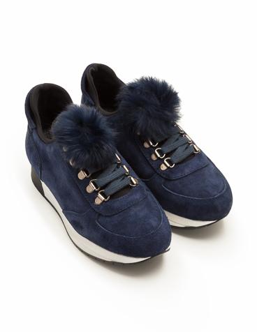 Sneakers detalle pompones.