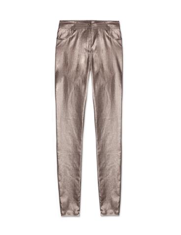 Pantalón pitillo metalizado