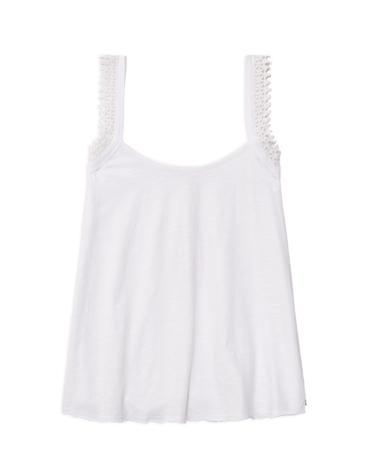 Camiseta tirantes puntilla algodón orgánico