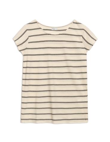 Camiseta manga corta listada