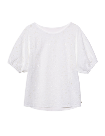 T-shirt broderie anglaise