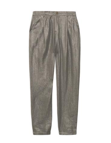 Pantalón lino metalizado