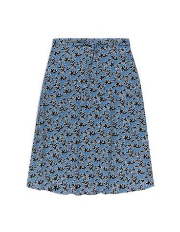 Midi flowing skirt