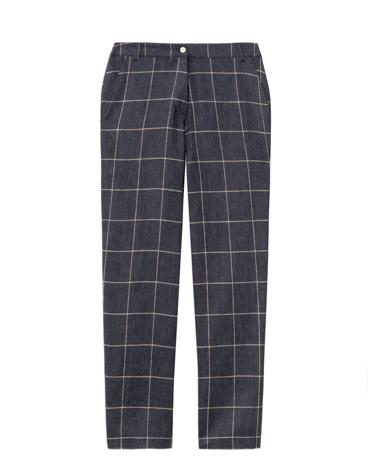 Pantalón culotte de lino