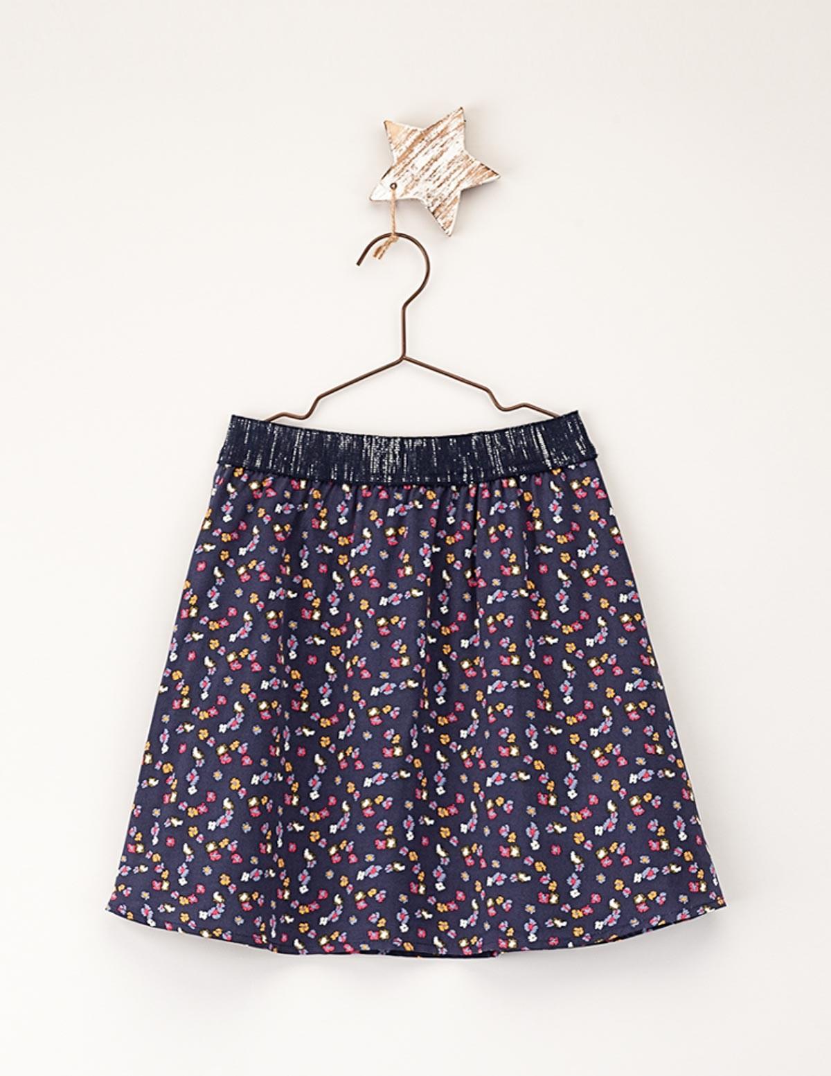 Falda cinturilla elástica floral