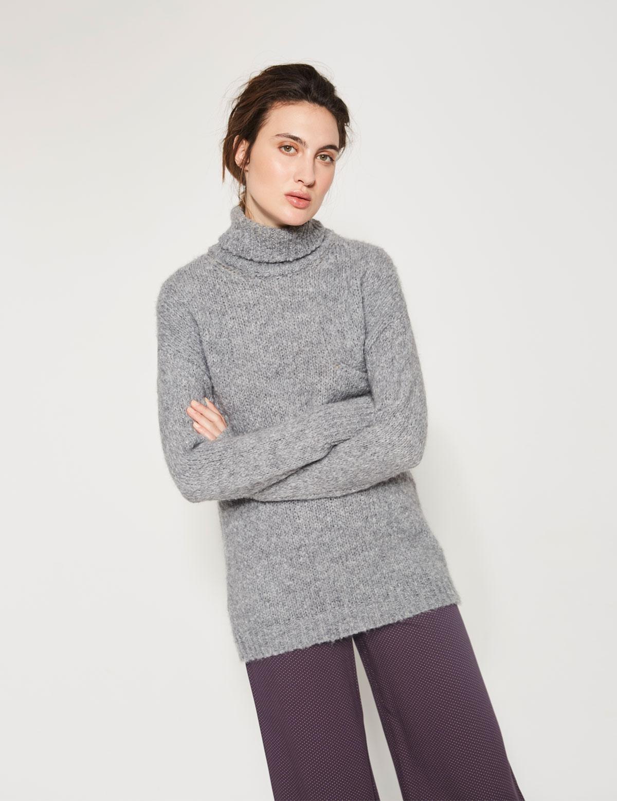 Jersey cuello alto y bolsillo - Ítem1