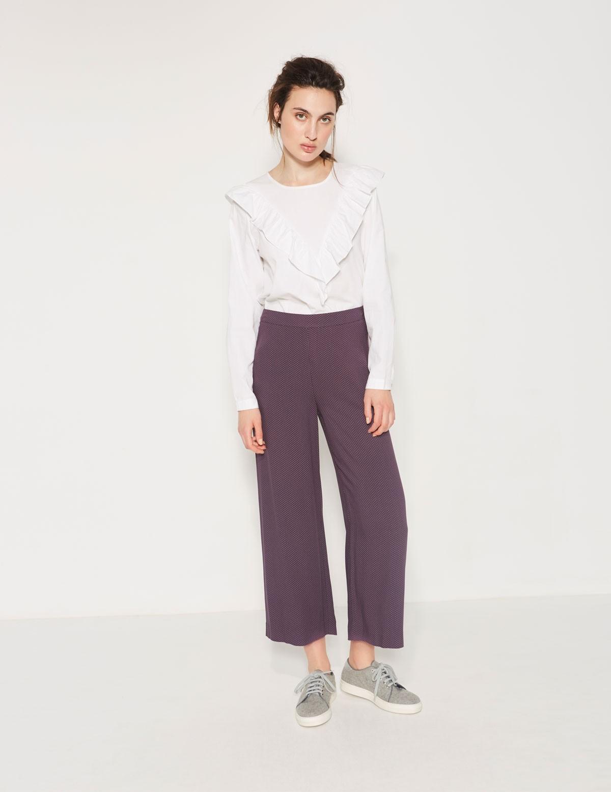 Pantalón culotte fluido