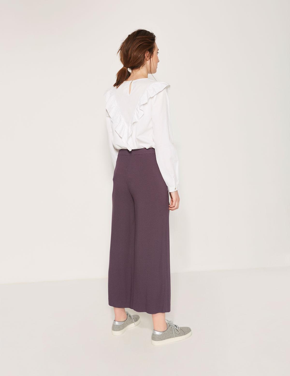 Pantalón culotte fluido - Ítem1
