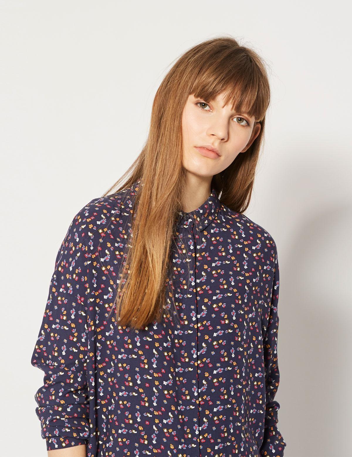 Falda cinturilla elástica floral - Ítem1